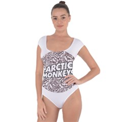 Arctic Monkeys Flower Circle Short Sleeve Leotard
