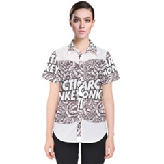 Arctic Monkeys Flower Circle Women s Short Sleeve Shirt