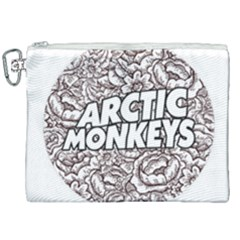Arctic Monkeys Flower Circle Canvas Cosmetic Bag (xxl) by Samandel