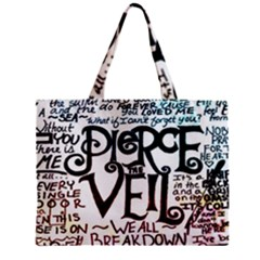Pierce The Veil Galaxy Zipper Mini Tote Bag by Samandel