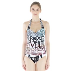 Pierce The Veil Galaxy Halter Swimsuit