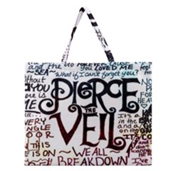 Pierce The Veil Galaxy Zipper Large Tote Bag by Samandel