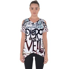Pierce The Veil Galaxy Cut Out Side Drop Tee