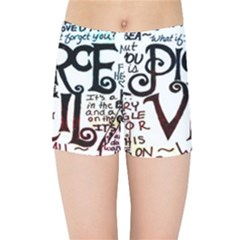 Pierce The Veil Galaxy Kids Sports Shorts