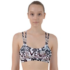 Pierce The Veil Galaxy Line Them Up Sports Bra by Samandel