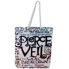 Pierce The Veil Galaxy Full Print Rope Handle Tote (large) by Samandel