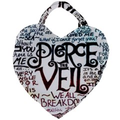 Pierce The Veil Galaxy Giant Heart Shaped Tote by Samandel