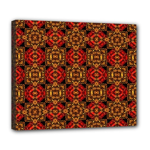 Colorful Ornate Pattern Design Deluxe Canvas 24  X 20   by dflcprints