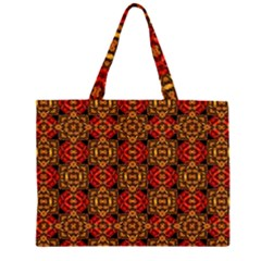 Colorful Ornate Pattern Design Zipper Large Tote Bag by dflcprints