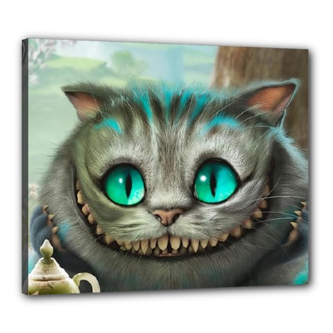 Cheshire Cat Canvas 24  X 20