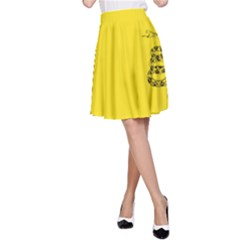 Gadsden Flag Don t Tread On Me A Line Skirt by MAGA