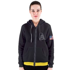 Gadsden Flag Don t Tread On Me Women s Zipper Hoodie by MAGA
