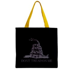 Gadsden Flag Don t Tread On Me Zipper Grocery Tote Bag by MAGA