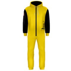 Gadsden Flag Don t Tread On Me Hooded Jumpsuit (men)  by MAGA