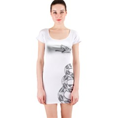 Gadsden Flag Don t Tread On Me Short Sleeve Bodycon Dress by MAGA