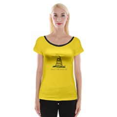 Gadsden Flag Don t Tread On Me Cap Sleeve Tops by MAGA
