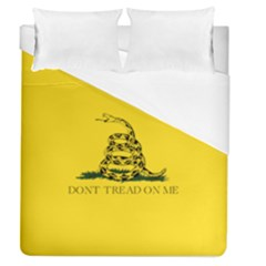 Gadsden Flag Don t Tread On Me Duvet Cover (queen Size) by MAGA