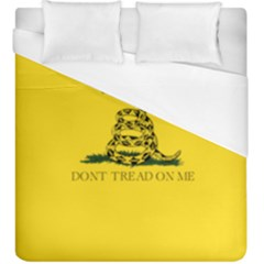 Gadsden Flag Don t Tread On Me Duvet Cover (king Size) by MAGA
