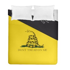 Gadsden Flag Don t Tread On Me Duvet Cover Double Side (full/ Double Size) by MAGA
