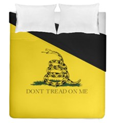 Gadsden Flag Don t Tread On Me Duvet Cover Double Side (queen Size) by MAGA