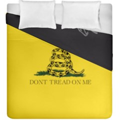 Gadsden Flag Don t Tread On Me Duvet Cover Double Side (king Size) by MAGA