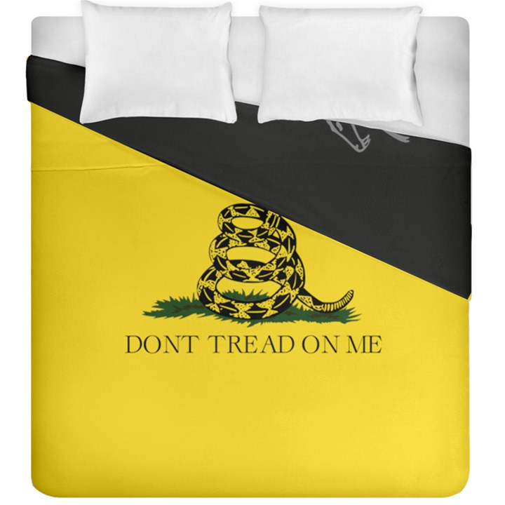 Gadsden Flag Don t tread on me Duvet Cover Double Side (King Size)