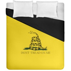 Gadsden Flag Don t Tread On Me Duvet Cover Double Side (california King Size) by MAGA