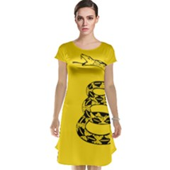 Gadsden Flag Don t Tread On Me Cap Sleeve Nightdress by MAGA