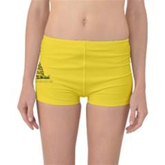 Gadsden Flag Don t Tread On Me Reversible Boyleg Bikini Bottoms by MAGA