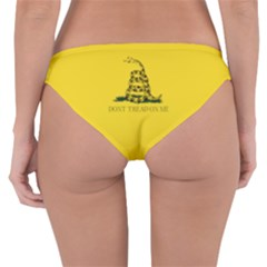 Gadsden Flag Don t Tread On Me Reversible Hipster Bikini Bottoms by MAGA