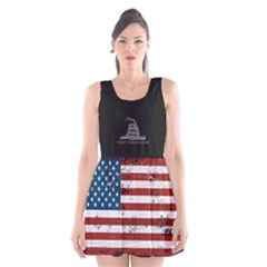 Gadsden Flag Don t Tread On Me Scoop Neck Skater Dress by MAGA