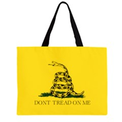 Gadsden Flag Don t Tread On Me Zipper Large Tote Bag by MAGA