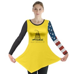 Gadsden Flag Don t Tread On Me Long Sleeve Tunic  by MAGA