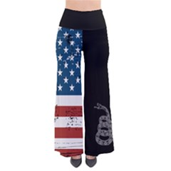 Gadsden Flag Don t Tread On Me So Vintage Palazzo Pants by MAGA