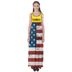 Gadsden Flag Don t Tread On Me Empire Waist Maxi Dress by MAGA