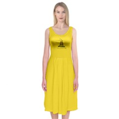 Gadsden Flag Don t Tread On Me Midi Sleeveless Dress