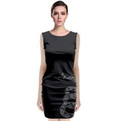 Gadsden Flag Don t Tread On Me Classic Sleeveless Midi Dress by MAGA