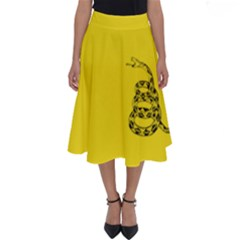 Gadsden Flag Don t Tread On Me Perfect Length Midi Skirt by MAGA