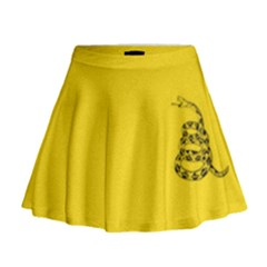 Gadsden Flag Don t Tread On Me Mini Flare Skirt by MAGA