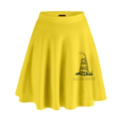 Gadsden Flag Don t Tread On Me High Waist Skirt by MAGA