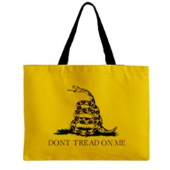 Gadsden Flag Don t Tread On Me Zipper Medium Tote Bag by MAGA