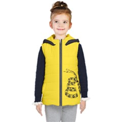 Gadsden Flag Don t Tread On Me Kid s Hooded Puffer Vest by MAGA