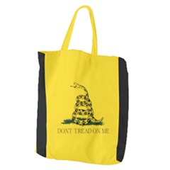 Gadsden Flag Don t Tread On Me Giant Grocery Zipper Tote by MAGA