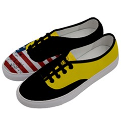Gadsden Flag Don t Tread On Me Women s Classic Low Top Sneakers by MAGA