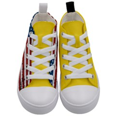 Gadsden Flag Don t Tread On Me Kid s Mid Top Canvas Sneakers