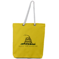 Gadsden Flag Don t Tread On Me Full Print Rope Handle Tote (large) by MAGA