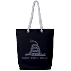 Gadsden Flag Don t Tread On Me Full Print Rope Handle Tote (small) by MAGA