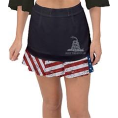 Gadsden Flag Don t Tread On Me Fishtail Mini Chiffon Skirt by MAGA