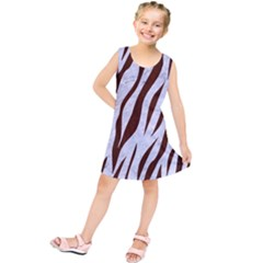 Skin3 White Marble & Reddish Brown Wood (r) Kids  Tunic Dress