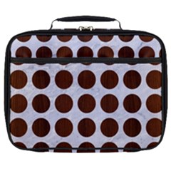 Circles1 White Marble & Reddish Brown Wood (r) Full Print Lunch Bag